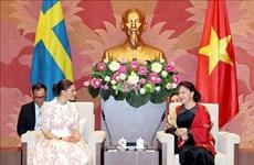 La présidente de l'AN reçoit la princesse héritière de Suède