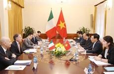 Le Vietnam et l'Italie cherchent à promouvoir la collaboration