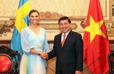 La princesse héritière de Suède Victoria Ingrid Alice Desiree visite Ho Chi Minh-Ville