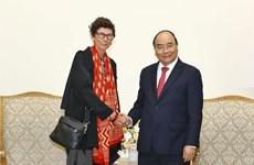 Le Premier ministre reçoit l'ambassadrice de Norvège au Vietnam