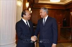 Le PM Nguyen Xuan Phuc rencontre le président de la Douma