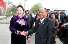Le président de l'AN cambodgienne  conclut sa visite au Vietnam