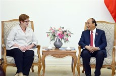 Le PM Nguyen Xuan Phuc reçoit la ministre australienne des Affaires étrangères