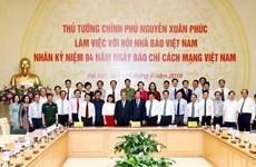 Le PM rencontre des journalistes à l'occasion de la Journée de la presse révolutionnaire