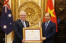L'ambassadeur sortant d'Australie au Vietnam mis à l'honneur