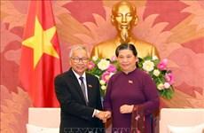 Une délégation de la Ligue nationale pour la démocratie du Myanmar en visite au Vietnam