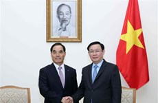 Le vice-PM Vuong Dinh Hue reçoit le président de la KRC