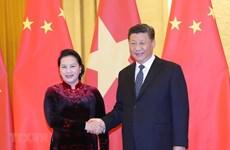 La présidente de l'AN vietnamiennne rencontre le leader chinois Xi Jinping