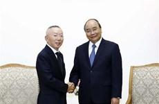 Le Premier ministre reçoit le PDG du groupe japonais Fast Retailing