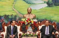 Une délégation du PCV en visite de travail au Laos