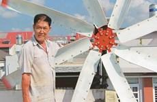 L'éolienne faite maison du paysan Lê Huu Bá