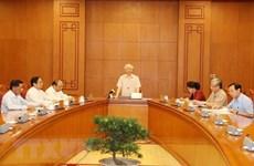 Le leader du Parti préside le sous-comité du personnel du 13e Congrès