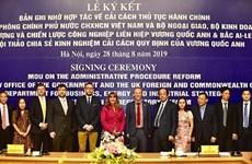 Vietnam et  Royaume-Uni renforcent leur coopération en matière de réforme administrative