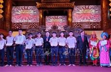 Bourses d'Odon Vallet aux étudiants de Thua Thien Hue
