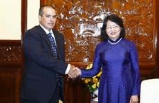 La vice-présidente vietnamienne reçoit une délégation de l'agence de presse Prensa Latina