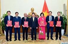 Le chef de l'Etat nomme six nouveaux ambassadeurs