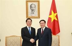 Le vice-PM Vuong Dinh Hue reçoit un dirigeant de la province chinoise du Yunnan
