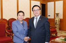 Vietnam-Laos : coopération entre les deux Partis dans le secteur des relations extérieures
