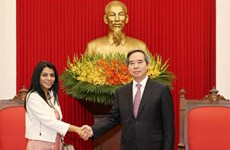 Le président de la Commission économique du CC du Parti reçoit une délégation du FMI