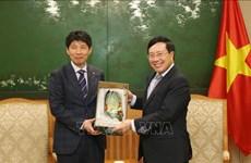 Le vice-PM et ministre des AE Pham Binh Minh reçoit le gouverneur de Gunma