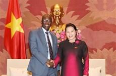 La présidente de l'Assemblée nationale reçoit le directeur national de la BM