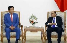 Le PM reçoit le président du groupe financier sud-coréen Hana