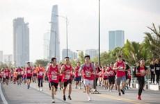 En route pour le marathon international Techcombank de Hô Chi Minh-Ville 2019