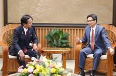 Le vice-PM Vu Duc Dam exhorte Kanagawa à investir au Vietnam