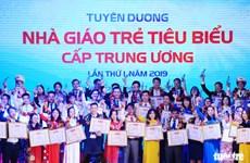 Distinction de 75 jeunes enseignants exemplaires