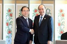 Le Premier ministre Nguyên Xuân Phuc reçoit le maire de Busan