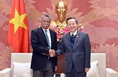 Le secrétaire général de l'Organisation asiatique de Productivité au Vietnam