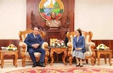 Le vice-Premier ministre Truong Hoa Binh en visite de travail au Laos