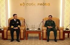 Le commandant de la Force japonaise d'autodéfense maritime au Vietnam