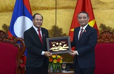 Visite d'une délégation de l'Assemblée nationale du Laos à Da Nang