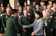 La présidente de l'Assemblée nationale rencontre d'anciens commandos