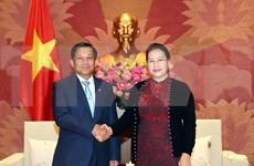 La présidente de l'AN reçoit le chef d'état-major général des forces armées birmanes
