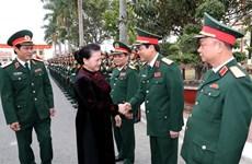 La présidente de l'Assemblée nationale félicite l'armée de mer
