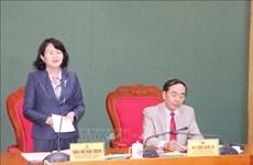 Déplacement de la vice-présidente Dang Thi Ngoc Thinh à Thai Nguyên