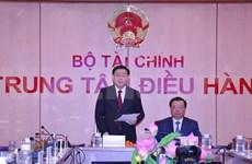 Le vice-PM Vuong Dinh Hue préside une téléconférence sur le budget de l'État 2019