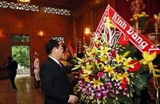 Le vice-Premier ministre Vuong Dinh Huê rend hommage au Président Hô Chi Minh