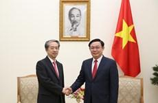 Le vice-PM Vuong Dinh Huê reçoit l'ambassadeur de Chine