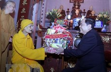 Les meilleurs vœux du Têt traditionnel pour l'Eglise bouddhique du Vietnam