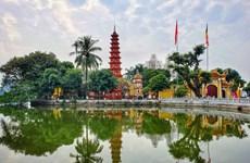 La pagode Trân Quôc, une fleur de lotus sur le lac de l'Ouest