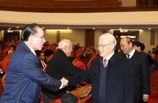Nouvel an lunaire : rencontre d'anciens hauts dirigeants du Parti et de l'Etat