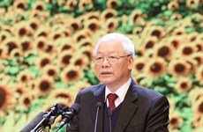 Le leader Nguyên Phu Trong affirme le caractère, le prestige, la capacité dirigeante du Parti