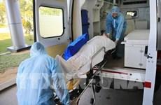 Coronavirus: exercice de prévention à l'hôpital central de Hue