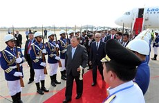 Le secrétaire général du PPRL et président du Laos entame une visite d'Etat au Cambodge