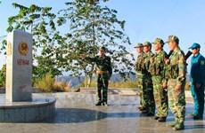 Le symbole de la solidarité Vietnam-Laos-Cambodge