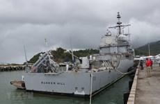 Des navires de la marine américaine en visite dans la ville de Da Nang