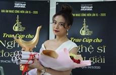 Hoang Thuy Linh grande gagnante des Contributions à la musique
